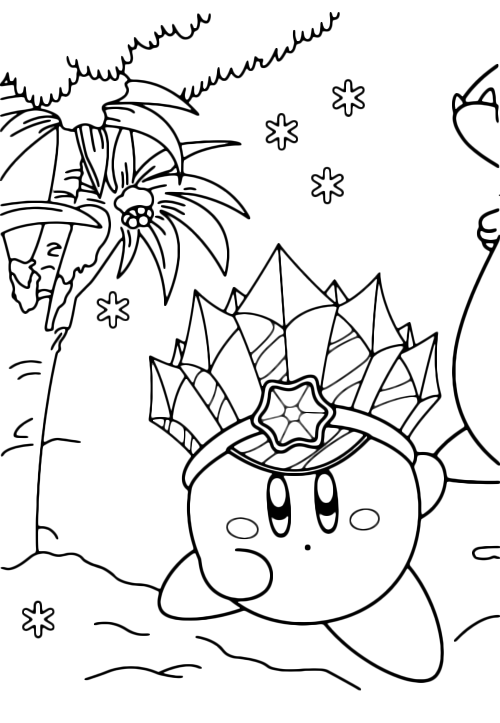 super mario brothers coloring pages - kirby ghiaccio corre