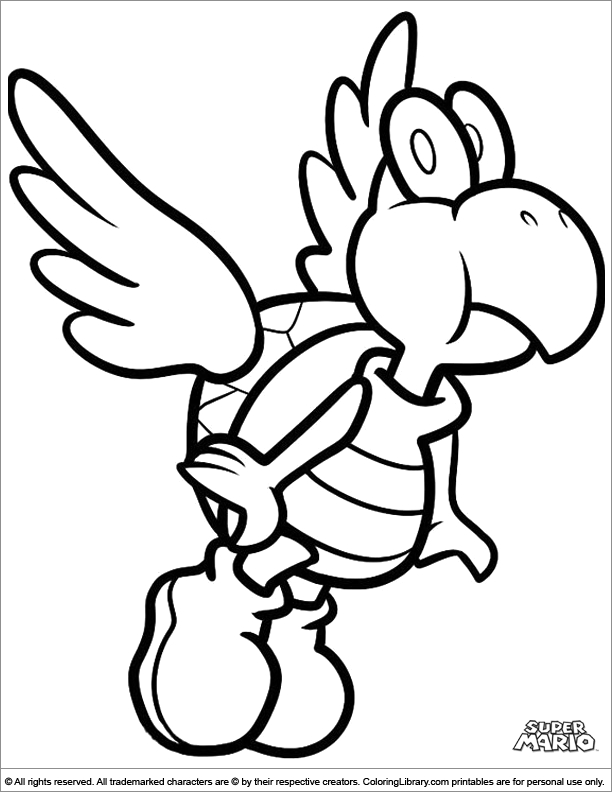 super mario brothers coloring pages - mario bad guy coloring pages