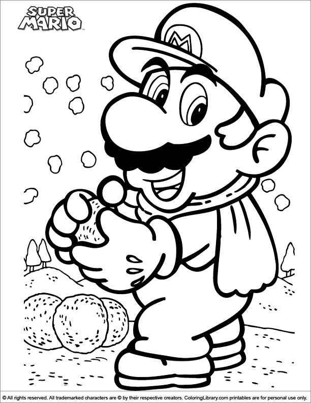 super mario brothers coloring pages - printable mario brothers coloring pages