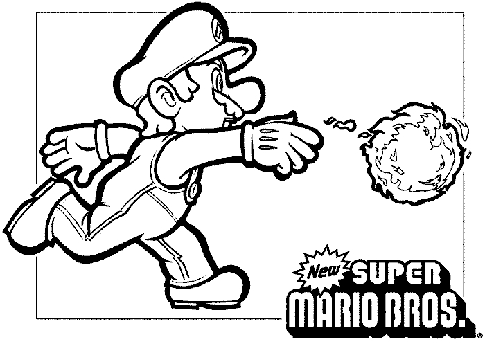 super mario brothers coloring pages - super mario