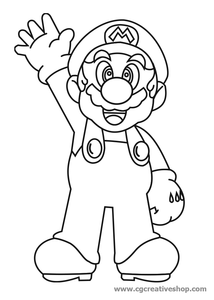 super mario coloring pages - 2933 super mario bros disegno da colorare