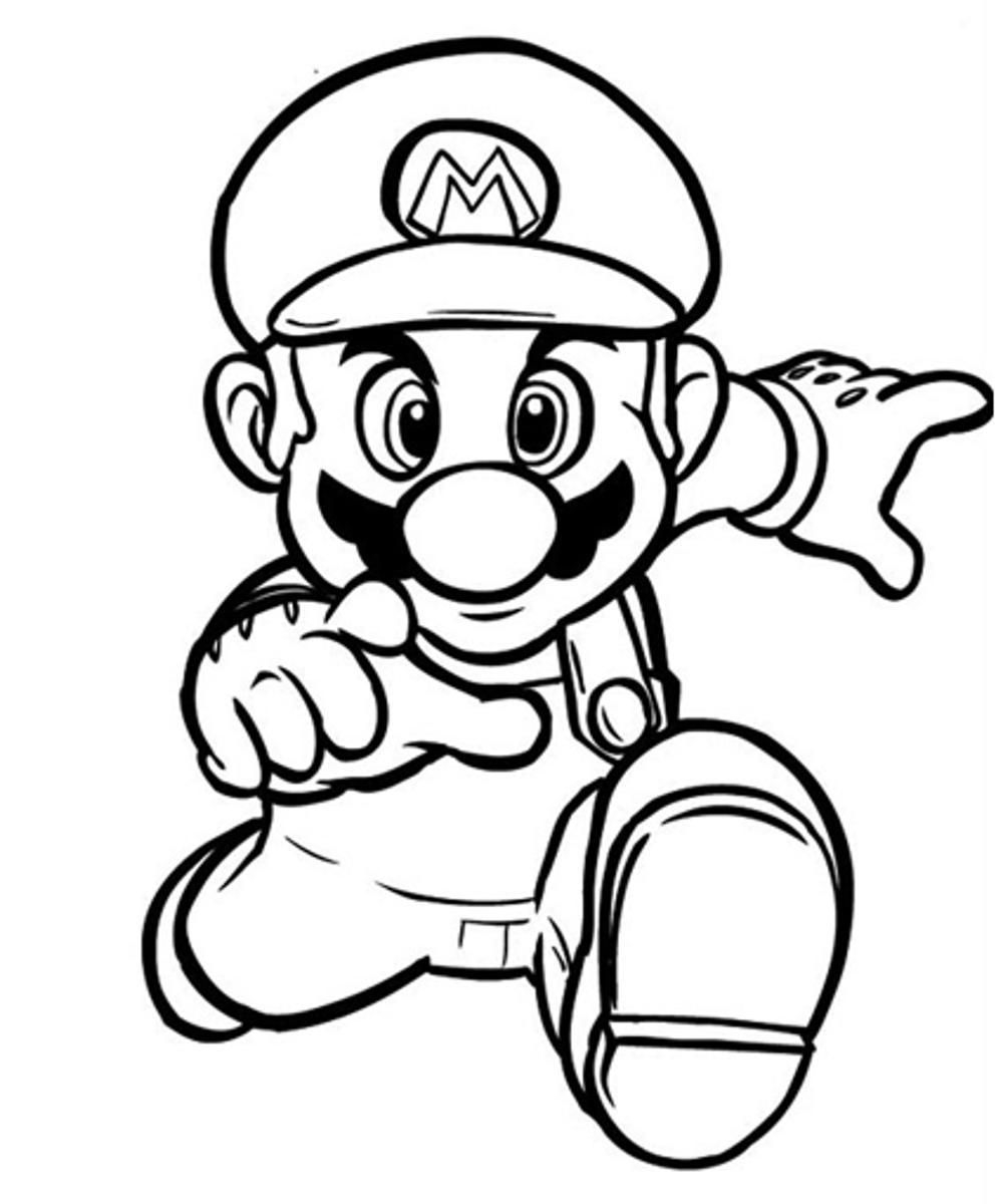 super mario coloring pages -