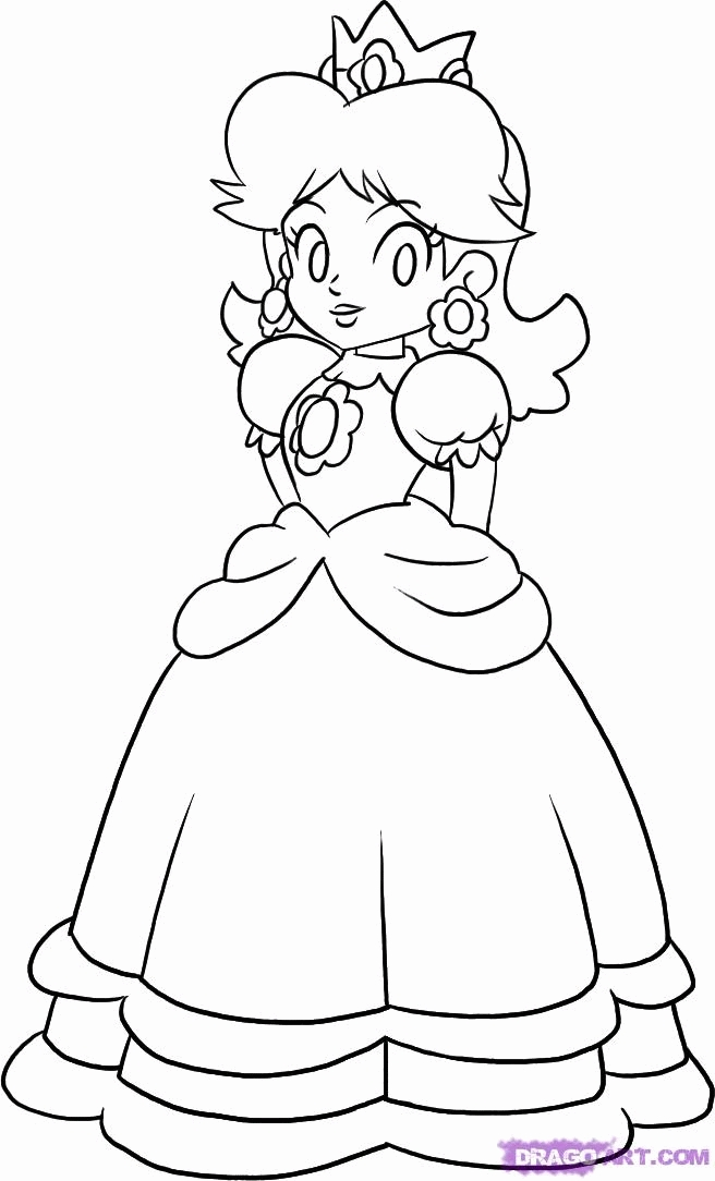 Super Mario Coloring Pages - Super Mario Daisy Coloring Pages Coloring Home