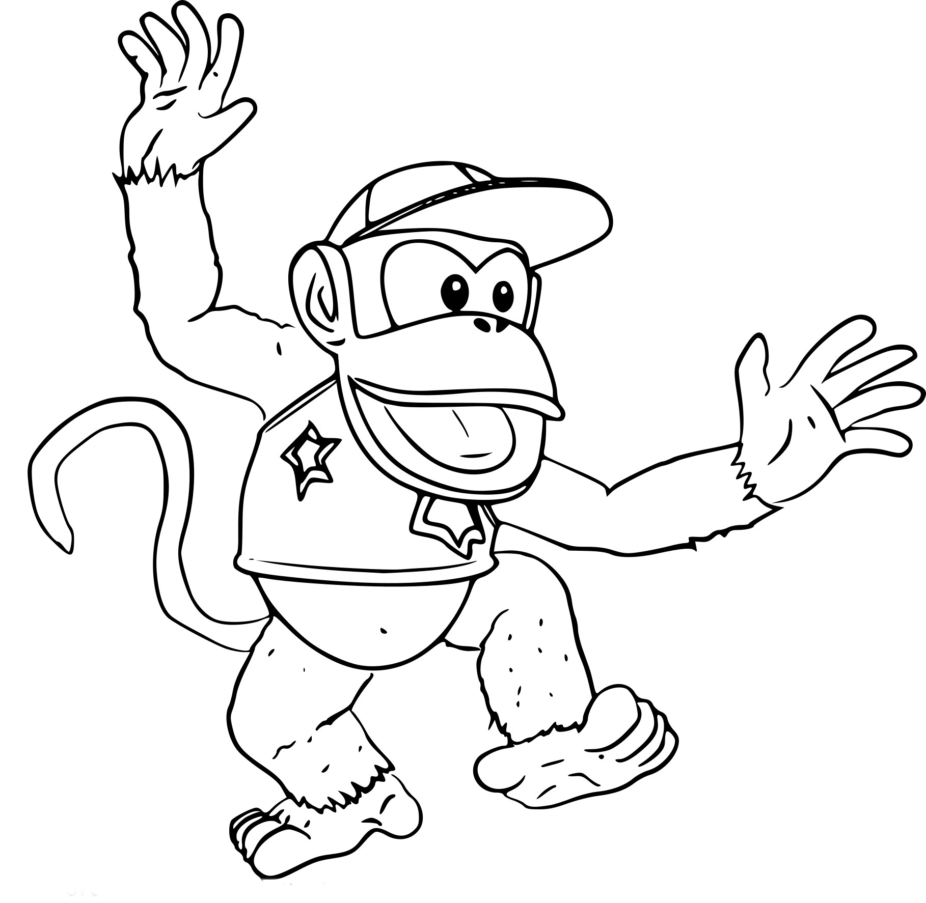 super smash bros coloring pages - coloriage diddy kong