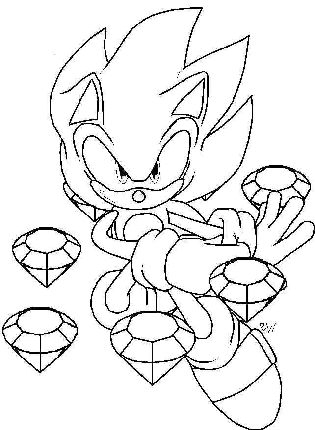 super sonic coloring pages - super sonic coloring pages