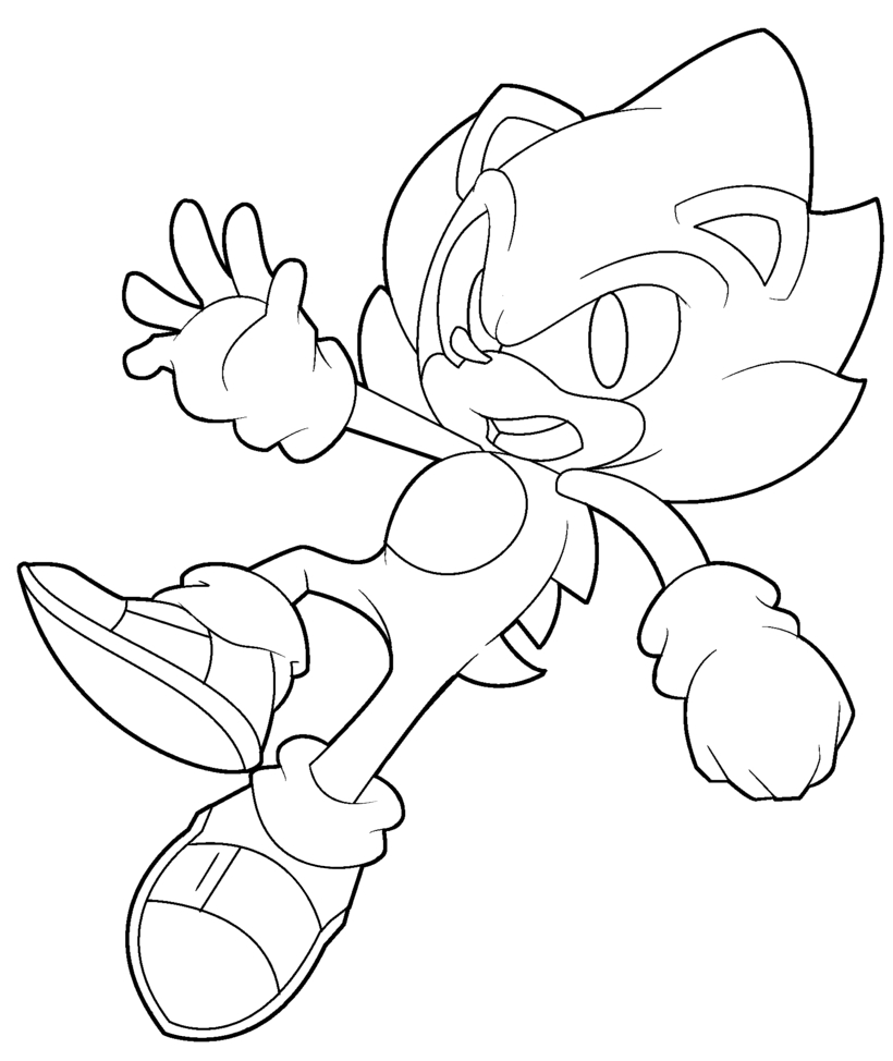 super sonic coloring pages - li mbersnode sonicbilderzumausmalen page7
