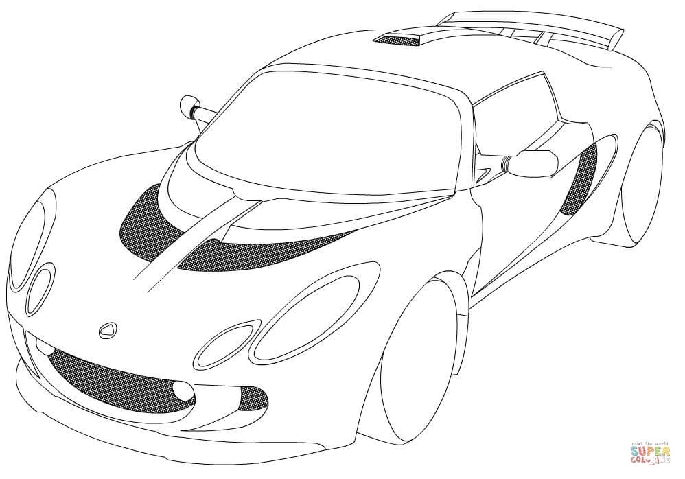 supercar coloring pages - lotus exige