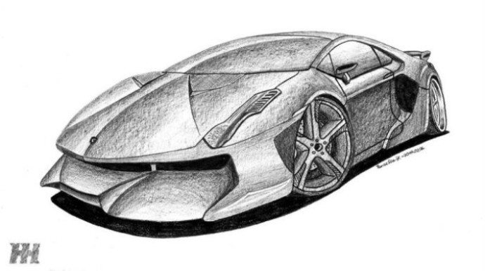 supercar coloring pages - we asked you to hand draw a lamborghini concept here are the top 13 submissions