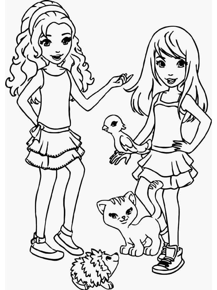 supergirl coloring page - lego friends coloring pages