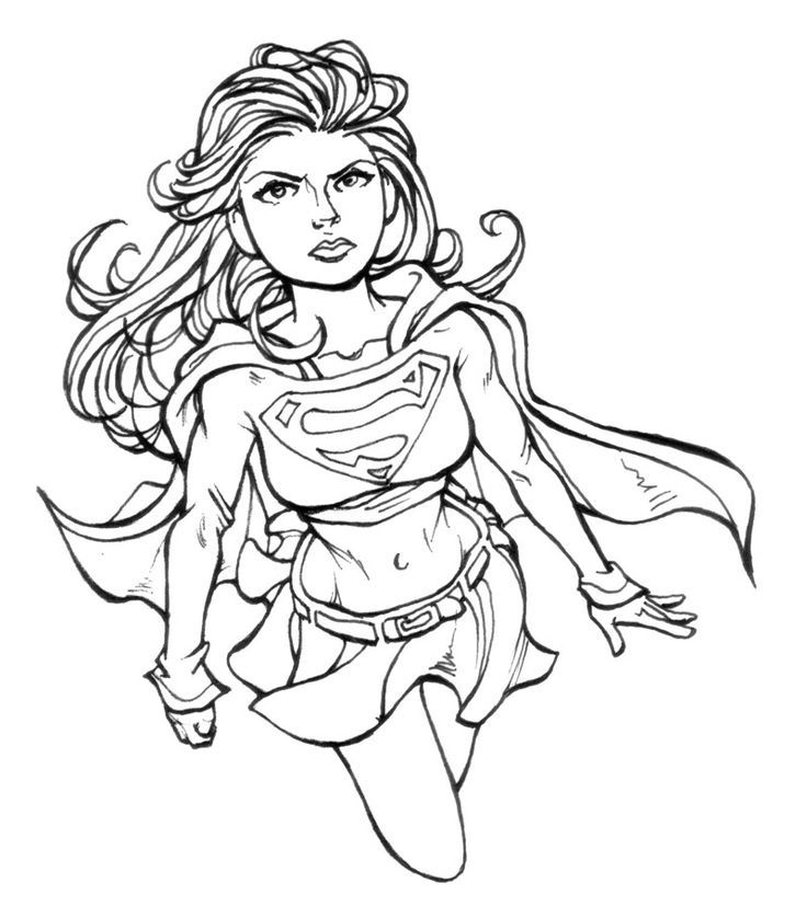 supergirl coloring page -