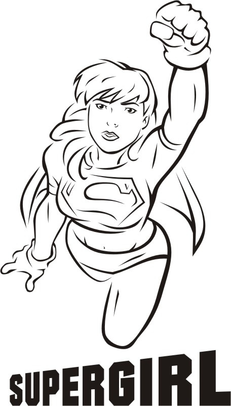 supergirl coloring page - superwoman clipart