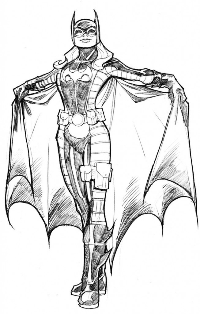 supergirl coloring pages - batgirl coloring pages