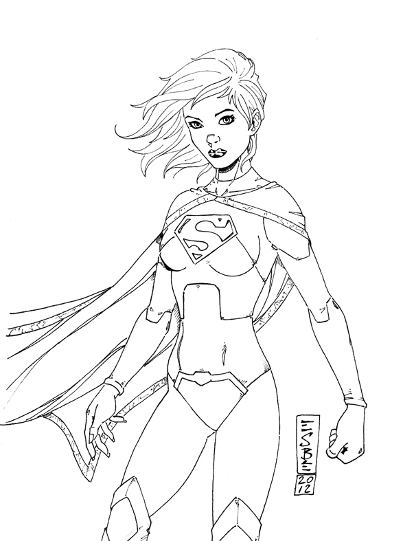Supergirl Coloring Pages - Draw Supergirl Hero Inspiration Graphic Supergirl Coloring