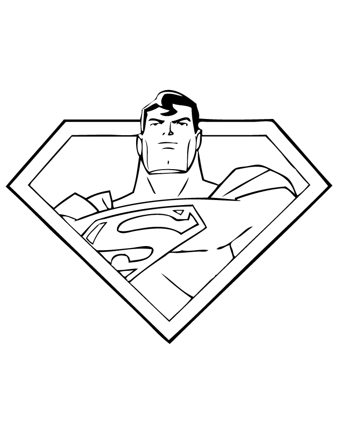 superman logo coloring pages - man of steel inside superman logo