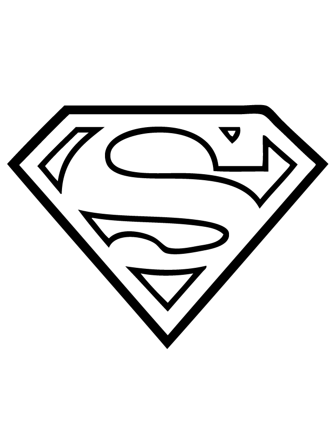 Superman Logo Coloring Pages - Superman Logo Coloring Page