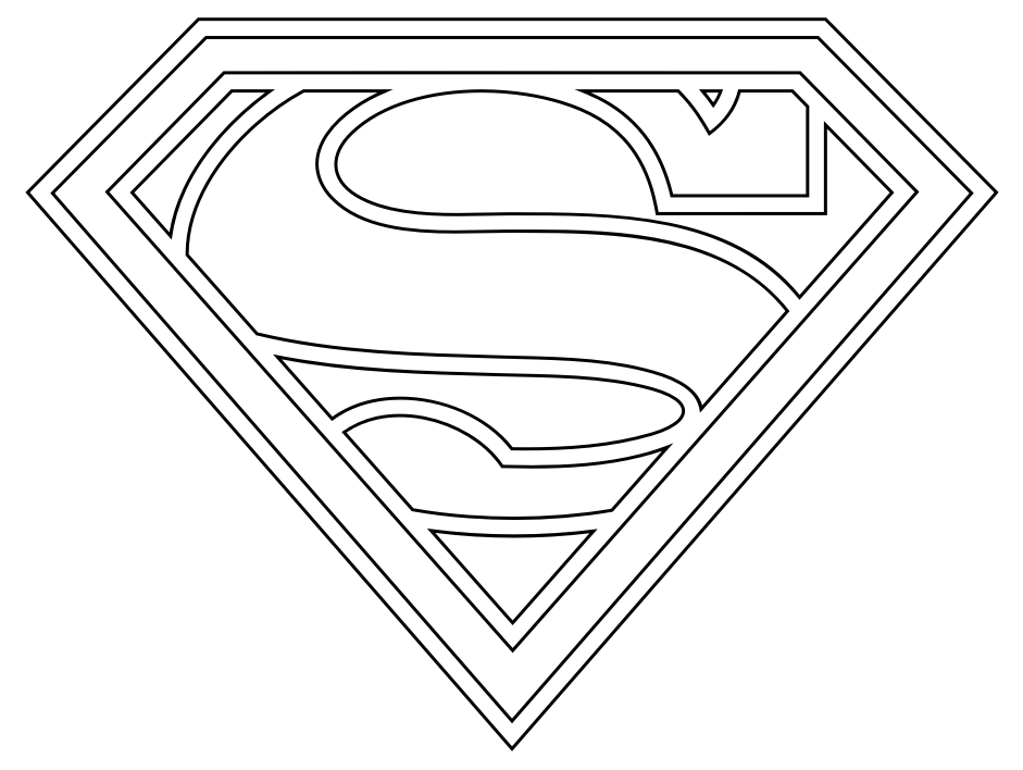 superman logo coloring pages - superman logo coloring pages
