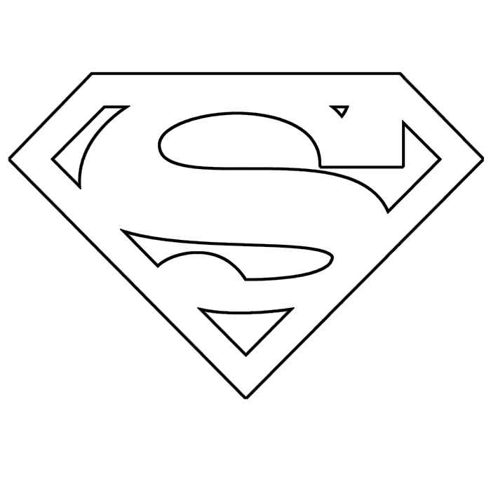 superman logo coloring pages - superman symbol coloring pages for kids