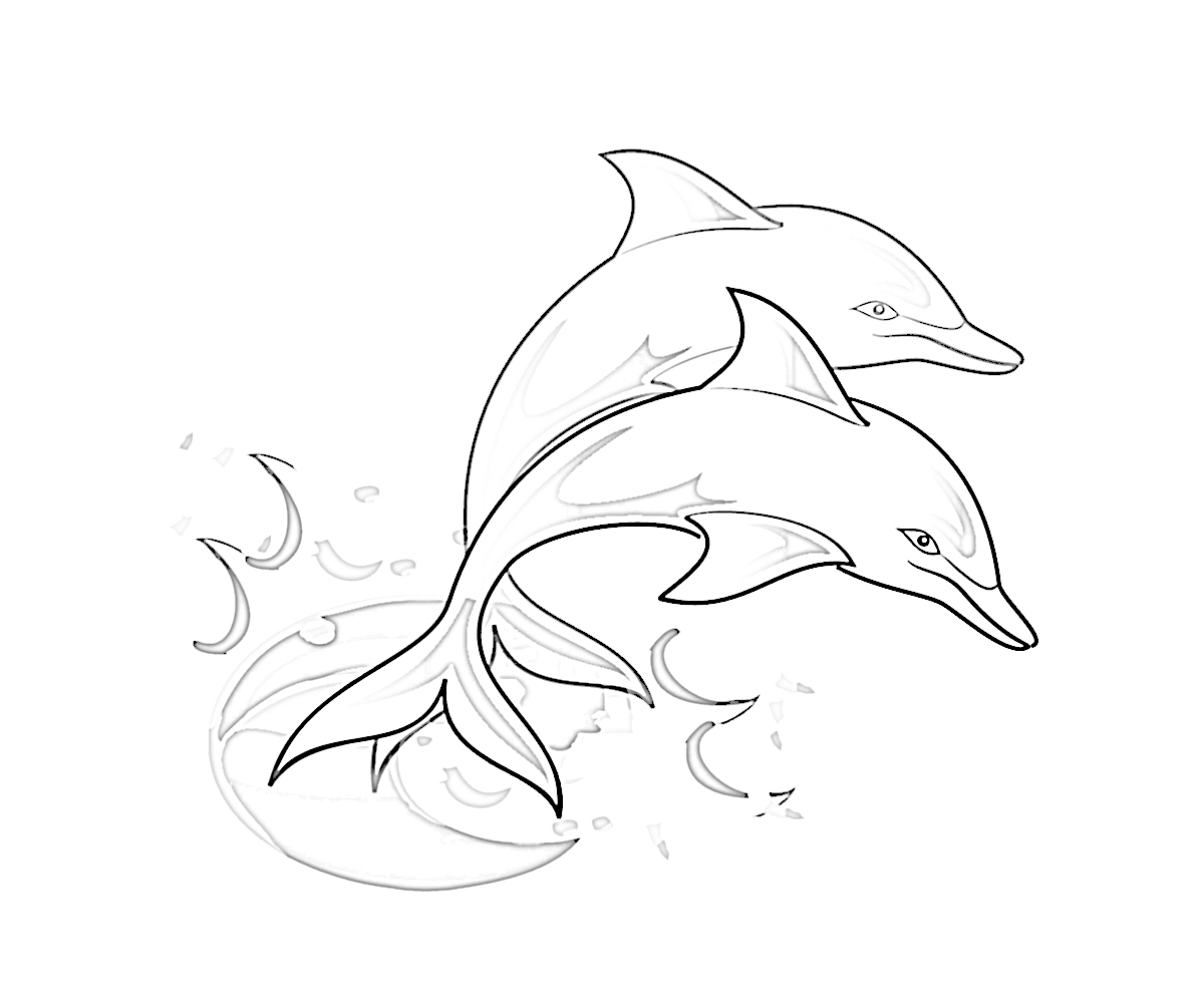 supernatural coloring pages - coloring pages dolphins