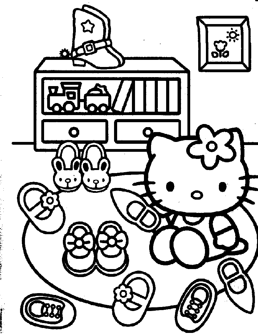 supernatural coloring pages - 61 cute hello kitty free coloring pages