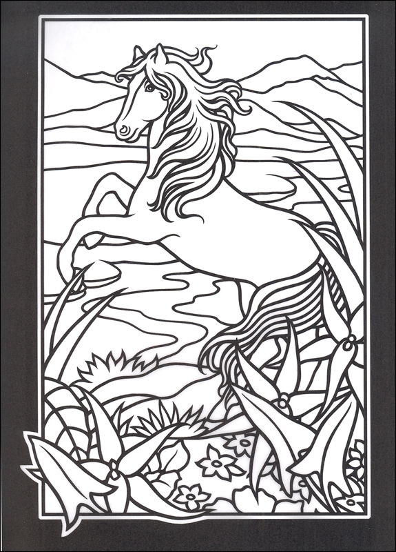 supernatural coloring pages - free printable stained glass design coloring pages
