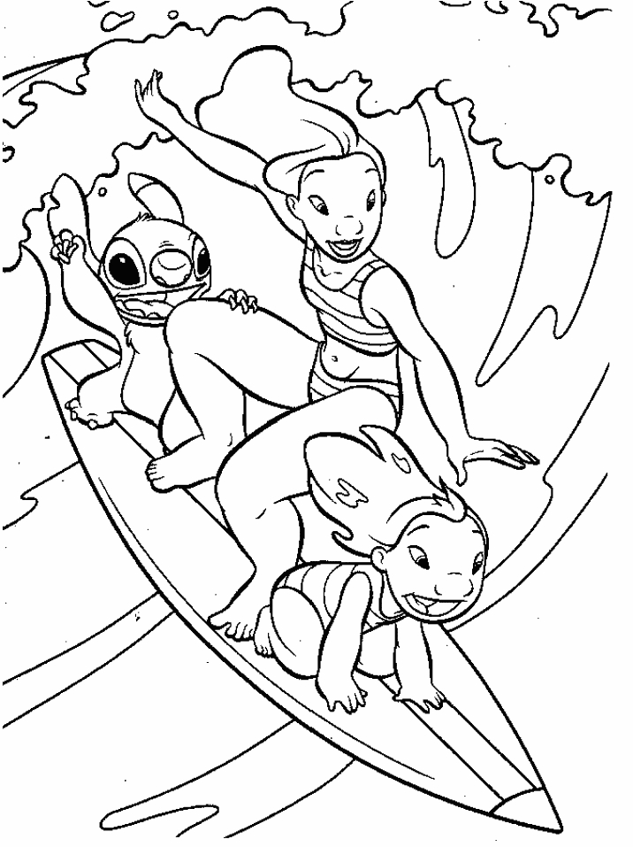 Surfing Coloring Pages - Surfing Coloring Page