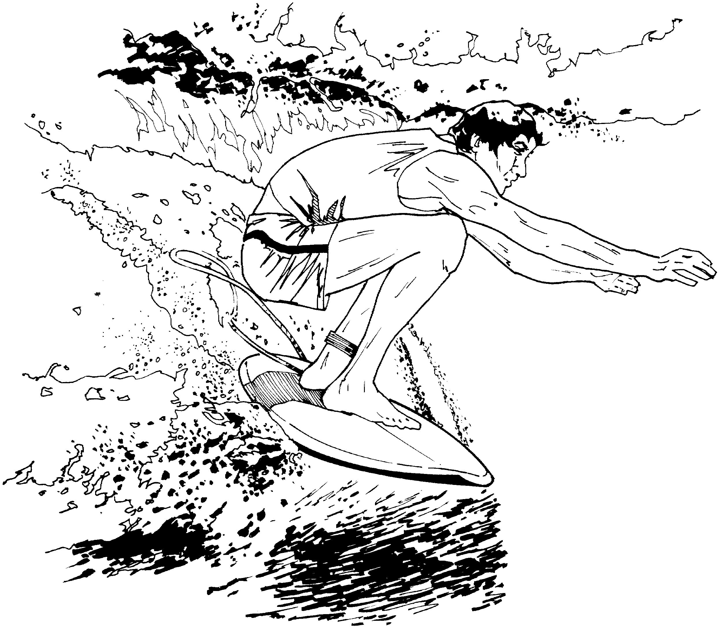 surfing coloring pages - surfing coloring pages