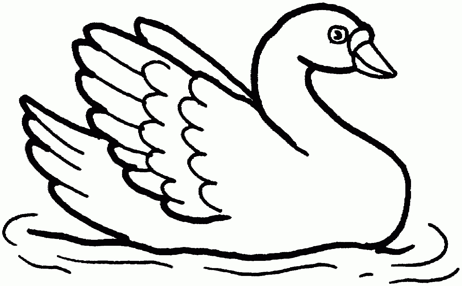 swan coloring pages - swan coloring pages free