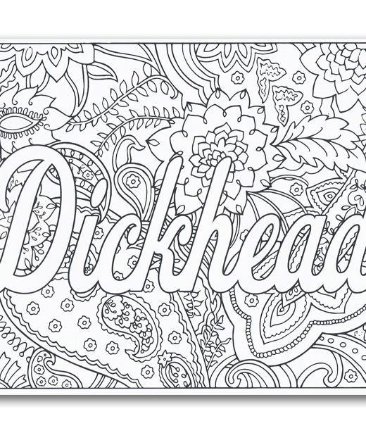 swear coloring pages - cursing coloring book
