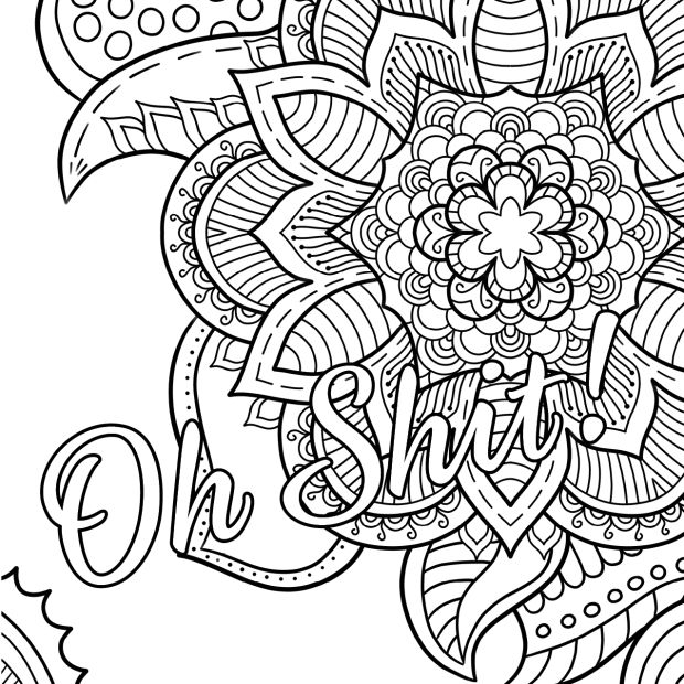 swear word coloring pages printable free - vulgar coloring pages