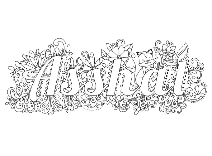 swear word coloring pages printable free - swear word coloring books
