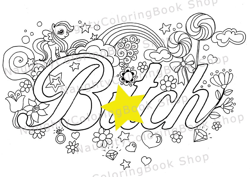 swear word coloring pages printable free - swear word coloring pages