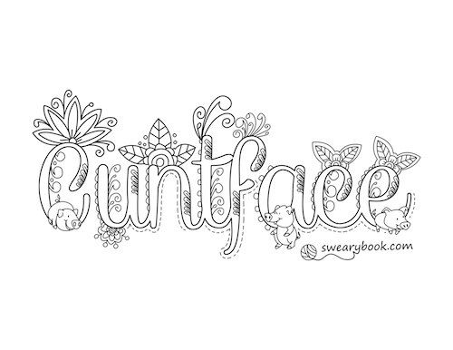 swear word coloring pages printable free -