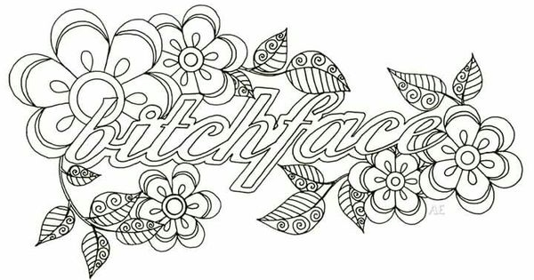 swear word coloring pages printable free - printable swear word coloring sketch templates