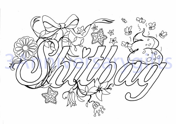 swear word coloring pages printable free - swear word coloring pages sketch templates