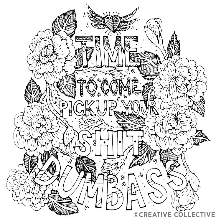 swear word coloring pages printable free - swear words adult coloring pages sketch templates