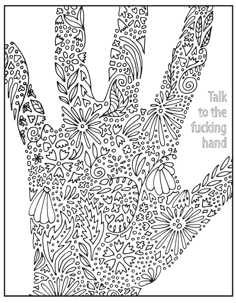 swear word coloring pages -