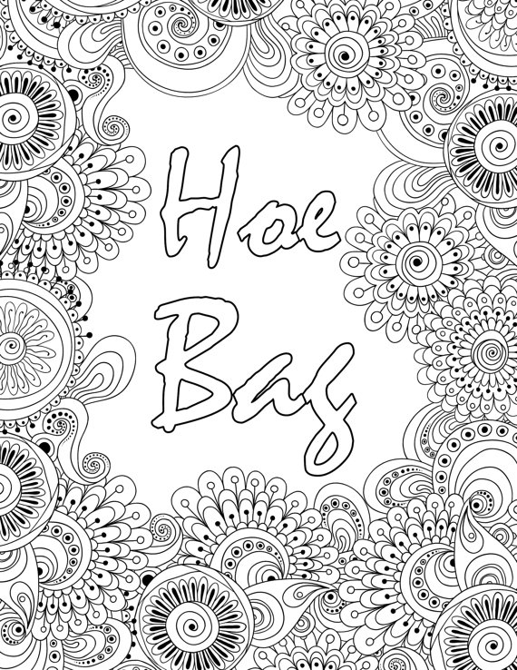 swear word coloring pages - swear word coloring book 20 full page