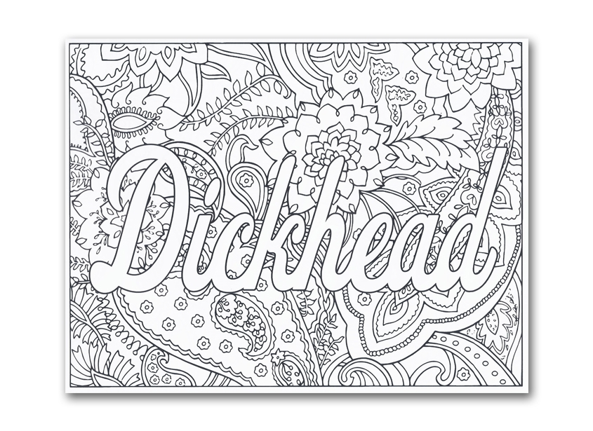 20 Swear Word Coloring Pages Compilation Free Coloring Pages