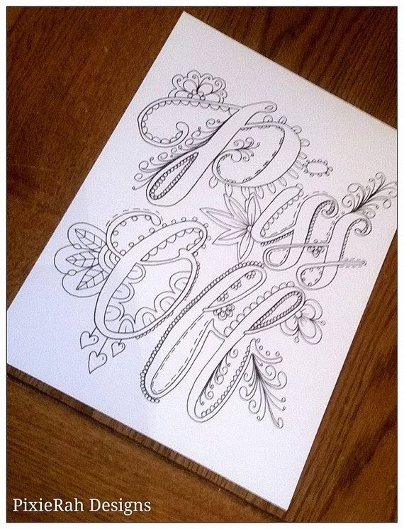 swear word coloring pages - curse word coloring book