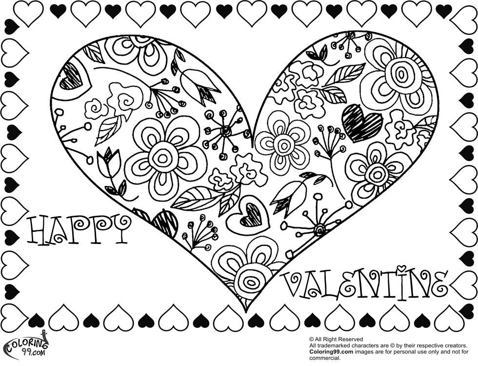 swear word coloring pages - valentine heart coloring pages