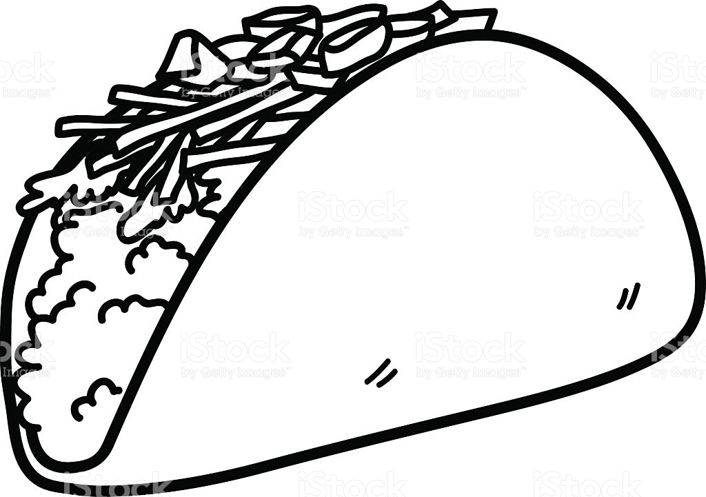 20 Taco Coloring Page Images