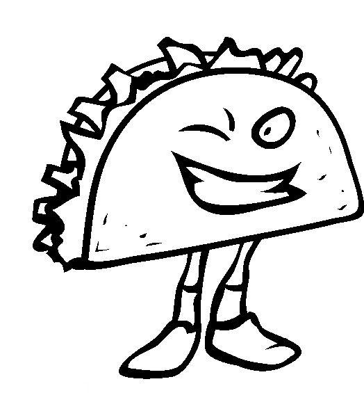 taco coloring page - taco coloring pages sketch templates