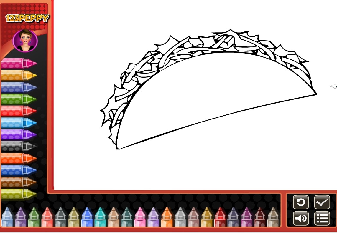 taco coloring page - watch v=eaw7gG4eyRs