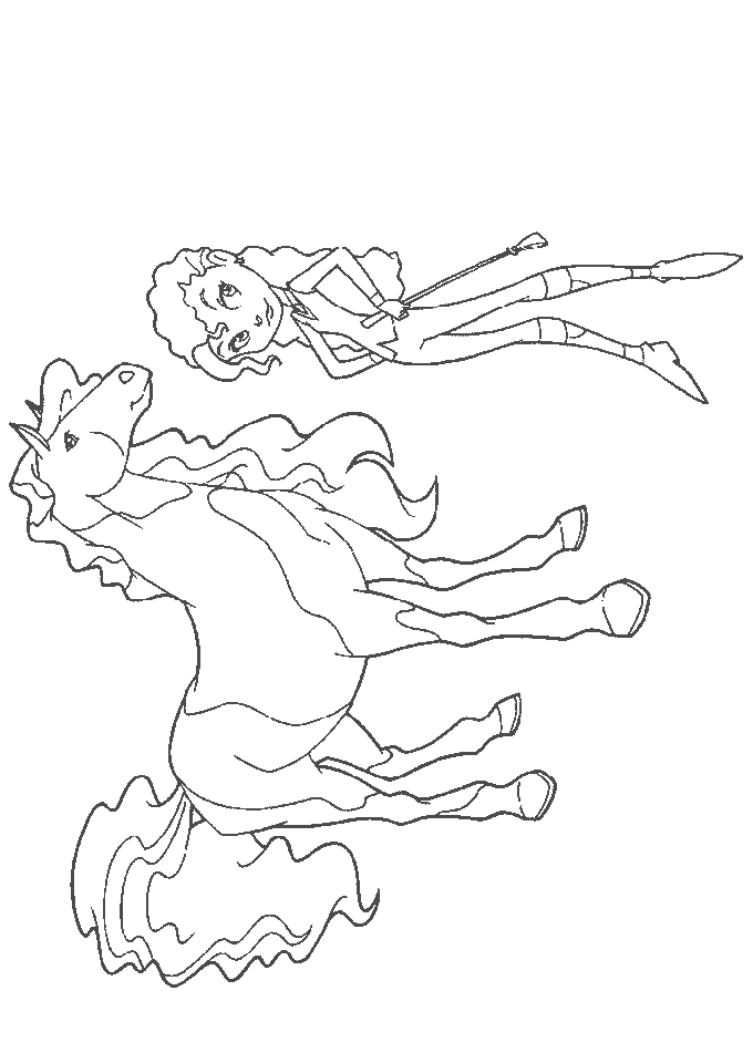 tangled coloring pages - horse land