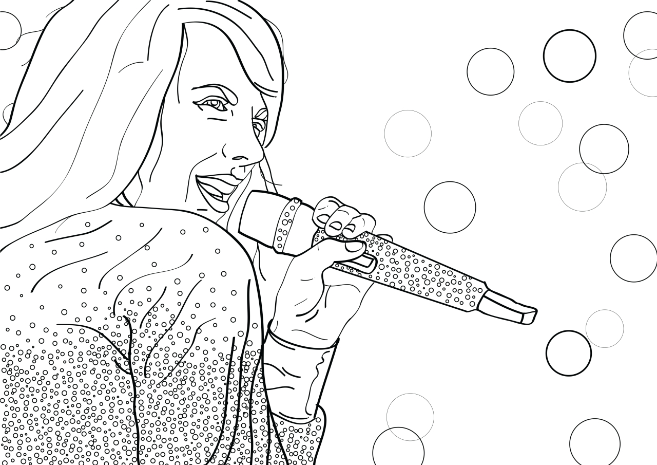 taylor swift coloring pages - miley cyrus coloring pages