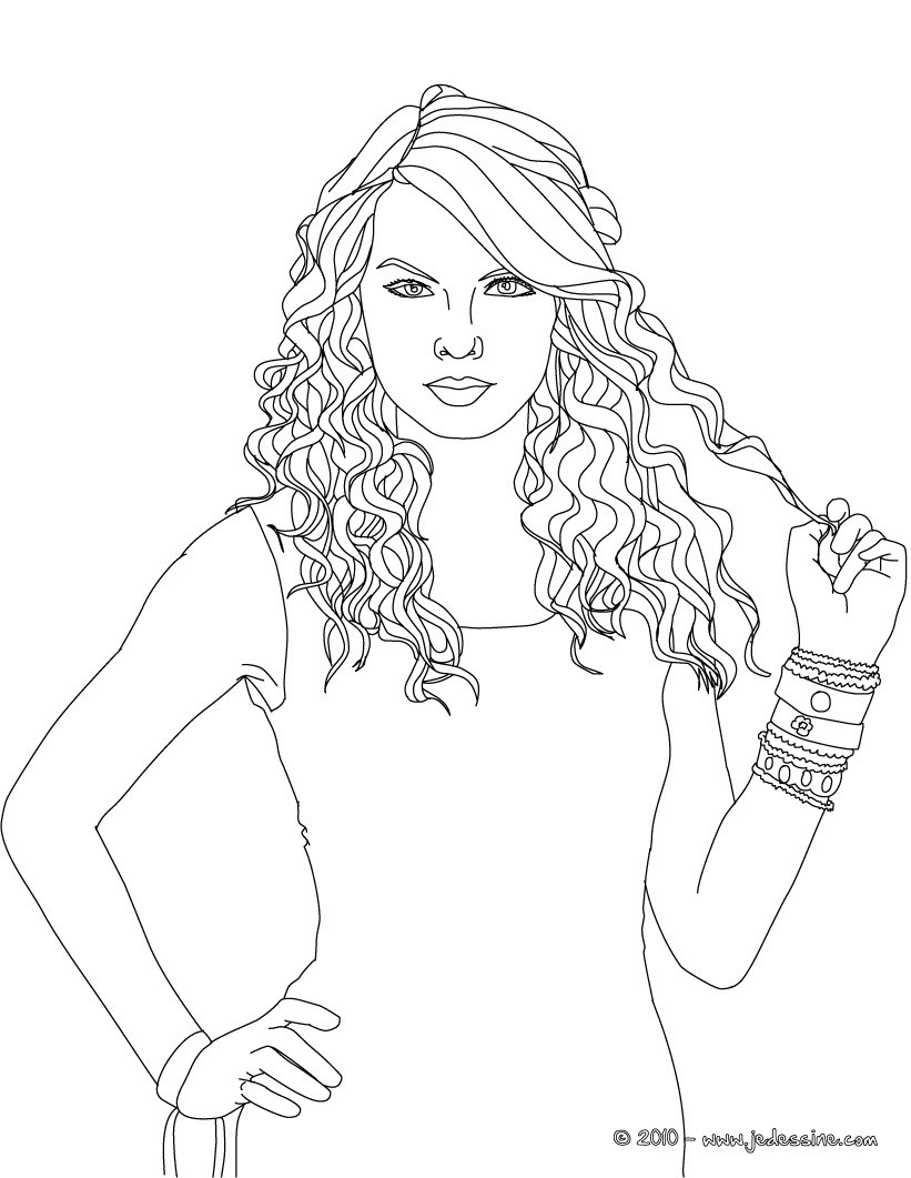 taylor swift coloring pages - colorie gratuitement taylor swift