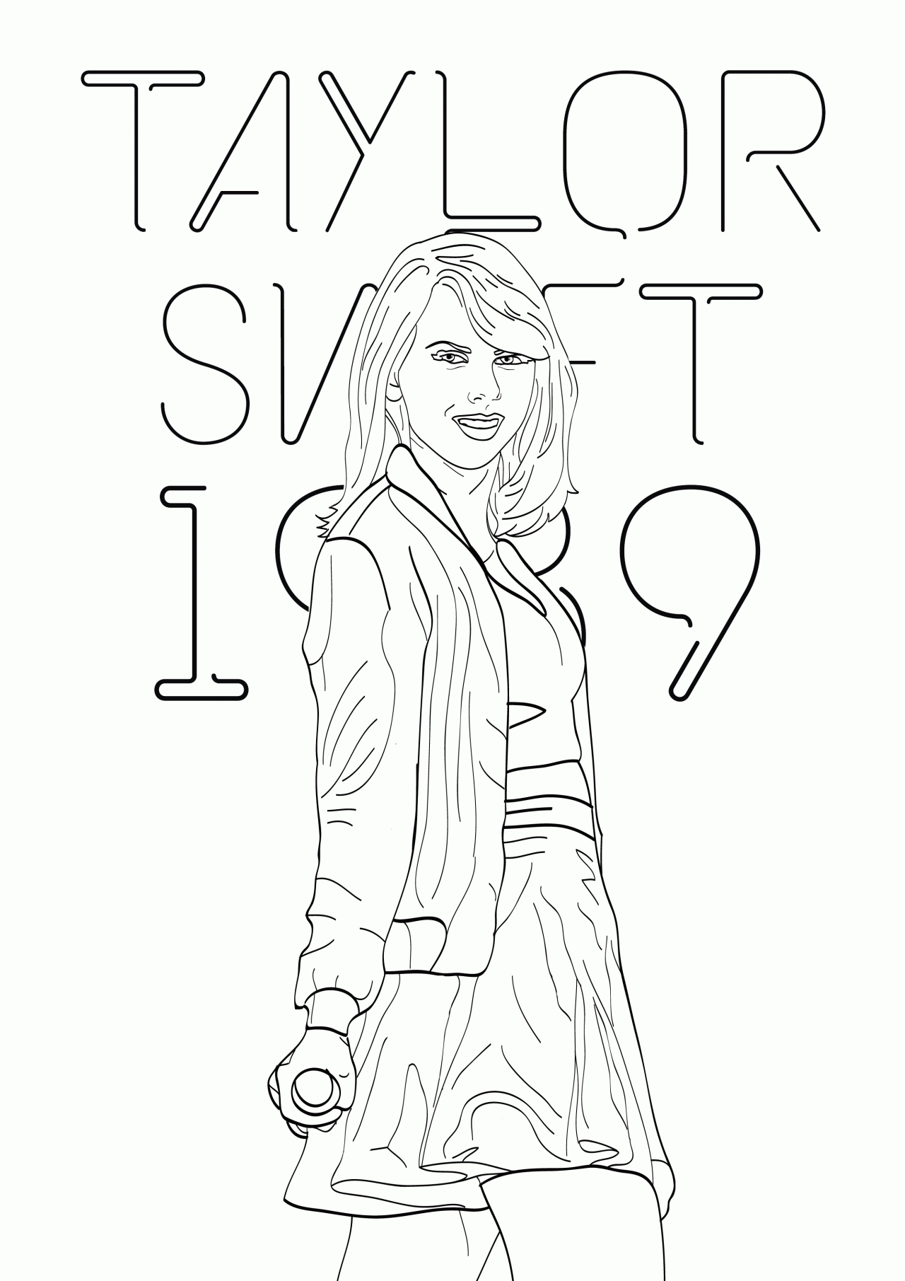 Taylor Swift Coloring Pages - Free Taylor Swift Coloring Pages Printables Coloring Home