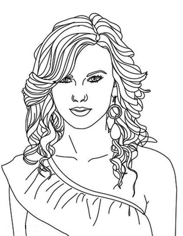 taylor swift coloring pages - 3379