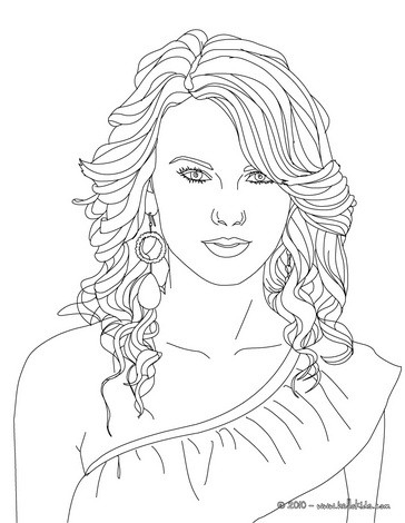 taylor swift coloring pages - taylor swift