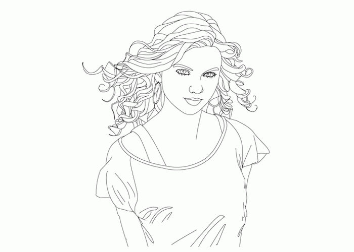 taylor swift coloring pages - taylor swift coloring pages to print